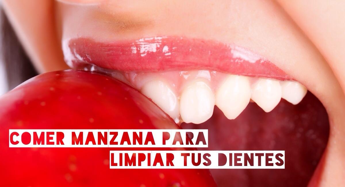 Comer manzana ayuda a limpiar tus dientes…¿mito o realidad?