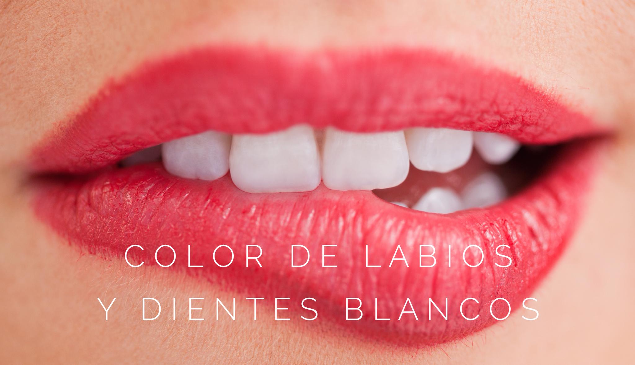 ¿Cómo me puedo pintar los labios para que mis dientes parezcan más blancos?
