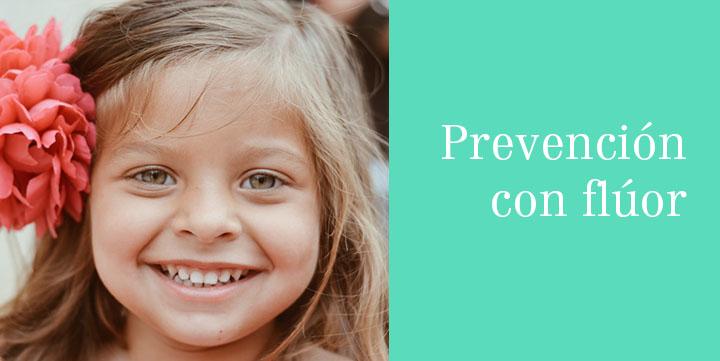 Prevención en niños con flúor